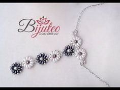 Flower necklace from superduo beads (twins) - YouTube