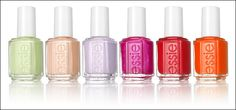 Essie. From left to right: Navigate Her, A Crewed Interest, To Buy Or Not To Buy, Tour de Finance, Ole Caliente, and It's Obvious! Lovely.