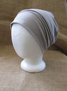 Super cool bamboo slouch and chemo beanie now in a new color...Sand! This Bamboo and spandex knit jersey hat that is lightweight, ecofriendly,