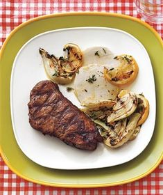 Grilled Steak and Fennel With Lemon and Mozzarella recipe