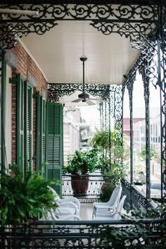 Balconies in the French Quarter.