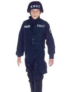 Underwraps Kids Boys SWAT Police Team Halloween « Holiday Adds