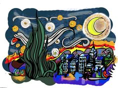 Starrry Nights in NYC by TheartofSaulJYarm on Etsy