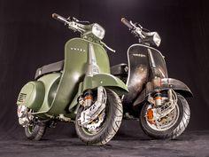 More awesome machines from Scooter & Service. Vintage Vespa, Vespa Retro, Retro Bike, Vintage Italy, Piaggio Vespa, Lambretta Scooter, Vespa Scooters, Vespa 150, Vespa Special