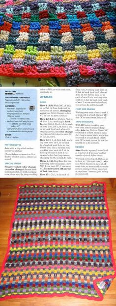 Autumn Glory afghan, designed by Melody MacDuffee ~ another great scrap pattern, very easy & essentially the same as Moogly's Leaping Stripes & Blocks  #crochet #blanket #throw