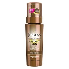 Jergens Natural Glow Instant Sun Body Mousse, Deep Bronze Tan, 6 Ounce Sunless Self-tanner, for a Natural-looking Tan Best Drugstore Self Tanner, Best Sunless Tanner, Best Self Tanner, Sunless Tanners, Mousse, Bronze Tan, Self Tanning Lotions, Tan Body, Natural Glow