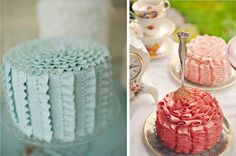 Ruffled Frosting Cakes » Alexan Events | Denver Wedding Planners, Colorado Wedding and Event Planning