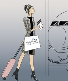 At the airport by Lilian Illustration  #fashion #art #illustration #lifestyle