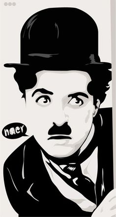 Charlie Chaplin vector image. Art.