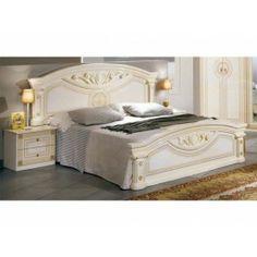 29499 beautifully designed the mcs roma cream finish italian bed frame is contemporary designer - Designer Bed Frames