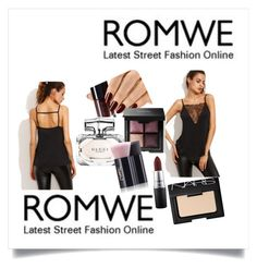 """""""👗Romwe"""" by ec300 ❤ liked on Polyvore featuring MAC Cosmetics, Gucci, Yves Saint Laurent and NARS Cosmetics"""