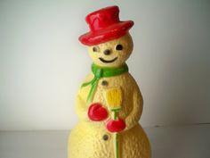 1960s Vintage Hard Plastic Electric Snowman by VintageFindsbySuzi, $12.00