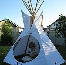 Backyard tee-pee