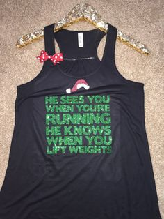 Christmas Tank -  Ruffles with Love - Racerback Tank - Womens Fitness - Workout Clothing - Workout Shirts with Sayings