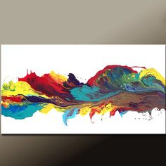 Abstract Canvas Art Painting Huge 60x30 Contemporary by wostudios, $399.00