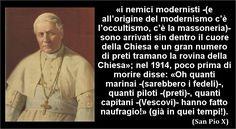 #PapaPioX #Chiesa #massoneria