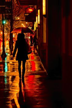 Rain - City Night - Woman With Umbrella Photograph by Nikolyn McDonald Winner in In Honor of Rain contest Umbrella Photography, Photography Pics, Street Photography, Night Aesthetic, City Aesthetic, Aesthetic Girl, Night Pictures, Night Photos, City Outline