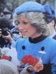 April 27, 1983: Princess Diana on a walkabout when she attended a luncheon at Otago Boys High School in Littlebourne, Dunedin.
