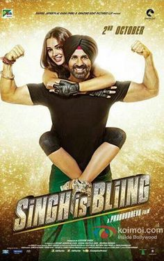 Brand new poster of Singh Is Bliing featuring Amy Jackson and Akshay Kumar