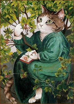 Cat reading and naturalist --- illustration by Susan Herbert Cat Reading, Gatos Cats, Wow Art, Cat People, Cat Costumes, Mundo Animal, Cat Love, Cool Cats, Pet Portraits