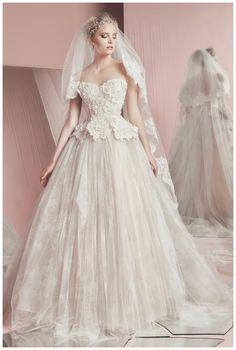 Wedding dress from the Zuhair Murad Spring Summer 2016 Bridal Collection.