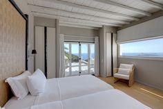 "Presidential Villa With Pool ""Diamond"" Bedroom Mykonos Villas, Marina Resort, Staff Room, Villa With Private Pool, Resort Villa, Hotel Suites, Ground Floor, Bedroom, Luxury"