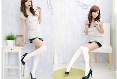 5.00$  Buy now - http://viwyq.justgood.pw/vig/item.php?t=crus9j45926 - Over The Knee Socks Thigh High Cotton Stockings Thinner New Arrival 5.00$