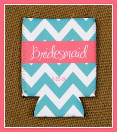 Can Koozie Customizable Bridal Party Gifts Can by ChicMonogram