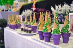 Rapunzel + Tangled themed birthday party : The Tower cupcakes Rapunzel Birthday Party, Disney Princess Party, Princess Birthday, Birthday Party Decorations, Girl Birthday, Birthday Ideas, Tangled Party Decorations, Tinkerbell Party, Princess Party