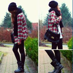 #flannel so cute. I want this whole outfit