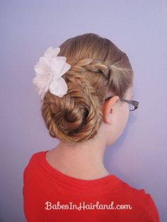 Braids and Fishbone Updo from Babes in Hairland