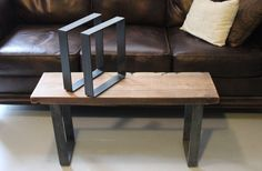 SHIPS WITHIN 24 HRS - Furniture Leg, Metal Leg, Bench Leg, Table Leg, Steel Leg, Pair of Legs, Reclaimed Wood
