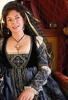 Joanne Whalley as Vanozza dei Cattanei | The Borgias | Series Costume Design by Gabriella Pescucci