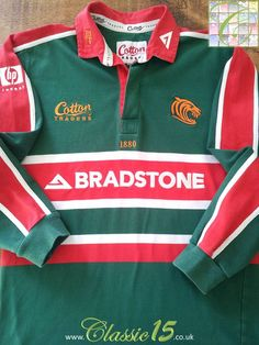 Relive Leicester Tigers' 2002/2003 season with this vintage Cotton Traders home long sleeve rugby shirt.