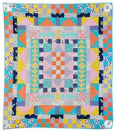 Maribel's Medallion Quilt Pattern, x by Josie Kate Snyder for the Maribel Collection by Annabel Wrigley Quilting Room, Quilting Tips, Homemade Quilts, Half Square Triangle Quilts, Medallion Quilt, Colorful Quilts, Sampler Quilts, Quilt Patterns, Floral Prints