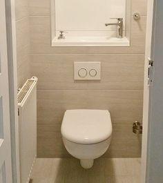 Pose d'un WC suspendu | WiCi Concept Small Toilet Room, Guest Toilet, Downstairs Toilet, New Toilet, Wc Bathroom, Tiny Bathrooms, Basement Bathroom, Small Bathroom, Toilet Tiles Design