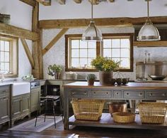 create a Country Kitchen. Back in the day, Kitchens were the heart-beat of the home. Decor, Home, Home Kitchens, Freestanding Kitchen Island, Kitchen Design, Sweet Home, Kitchen Inspirations, Country Kitchen, Kitchen On A Budget