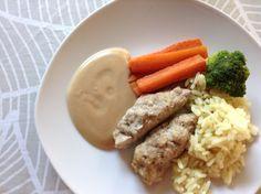 La recette favorite de mes enfants…et aussi ma préférée les soirs de semaine lorsque j'ai oublié de planifier mon repas. C'était aussi l'une des choses que j'apportais… Mets, Baby Food Recipes, Mashed Potatoes, Sausage, Cheese, Ethnic Recipes, Laurence, Articles, Peanut Sauce