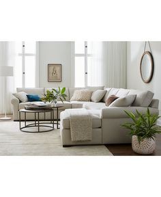 Astra Fabric Sectional Collection Created For Macys Round End TablesWood
