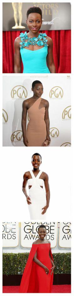 Lupita de película La actriz Lupita Nyong'o está encabezando la carrera de 'la mejor vestida' en las alfombras rojas. Solo falta ver cómo lucirá en la entrega del Óscar, el 2 de marzo. Revista Ellas