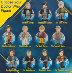 Doctor Who LEGO Mini Figs -- so cool!  Personally, I'm a 4th, 5th, 9th, 10th, and 11th Doctor fan-girl.