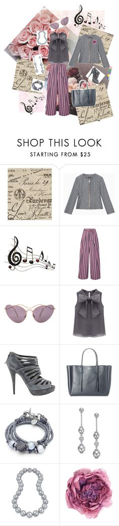 """""""Pink & Grey Note"""" by mb-magic-styles ❤ liked on Polyvore featuring Country Curtains, Max&Co., Benzara, Tome, Miu Miu, WithChic, Lanvin, Lizzy James, Kate Spade and Bling Jewelry"""