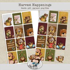 SoMa Design: Harvest Happenings - Cards Happenings, Cosy, Digital Scrapbooking, Harvest, Kit, Shit Happens, Cards, Design, Style