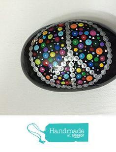 Mandala Stone #77 from Mafa Stones http://www.amazon.com/dp/B01BI70ZGM/ref=hnd_sw_r_pi_dp_LmtTwb07PP2H3 #handmadeatamazon