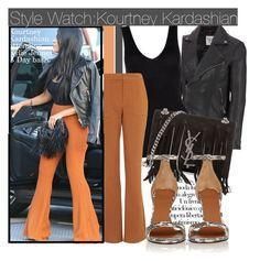"""Style Watch:Kourtney Kardashian"" by nfabjoy ❤ liked on Polyvore featuring Wilsons Leather, Arco, Hanro, Topshop, Yves Saint Laurent, Givenchy, kourtneykardashian and CelebrityStyle"