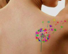 Temporary Tattoo Dandelion Waterproof Ultra Thin Realistic Fake Tattoos