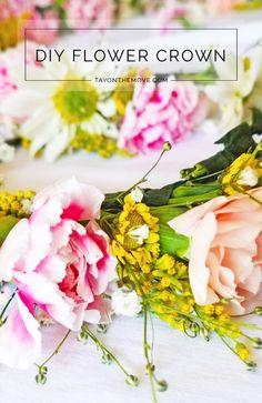 DIY Flower Crown - Spring Time - diy wedding - bridal shower