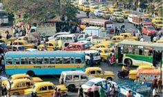#Kolkata #traffic is suffering for #BJP #CPM rally