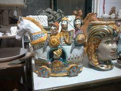 cavallo di troia, arte, scultura, ceramica, italia,sicilia