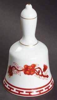 Coalport Indian Tree Coral (Scalloped) Bell, Fine China Dinnerware Coral Flora